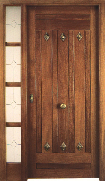 Puertas de entrada for Puertas madera maciza